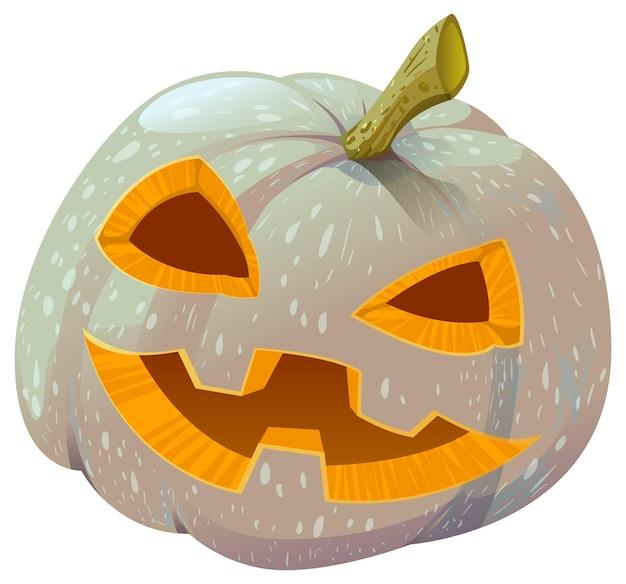 Страшный тыквенный фонарь на хэллоуин. изолированные на белом векторные иллюстрации
