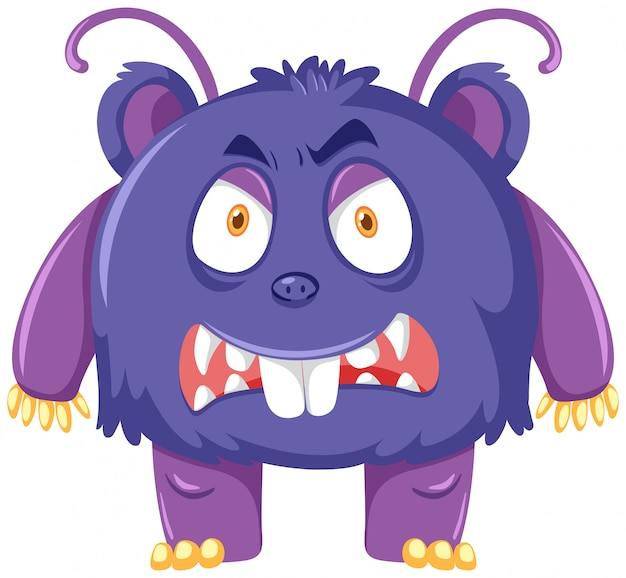 A scary purple monster
