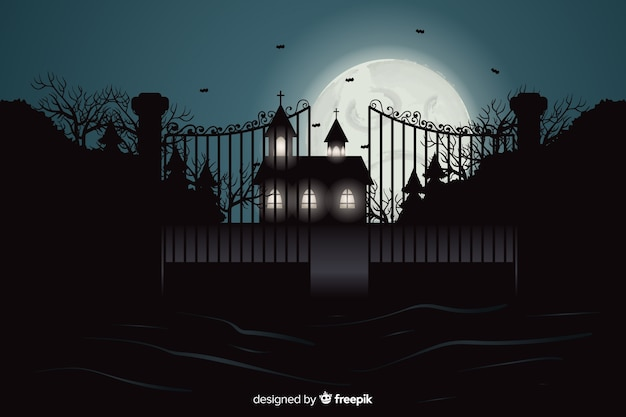 Scary realistic halloween background