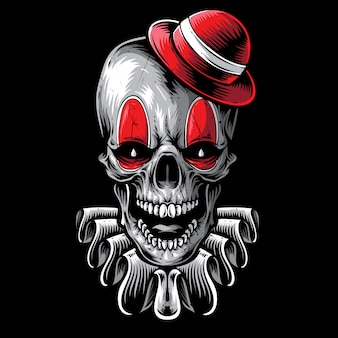 Scary skull clown vector art