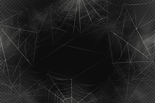 Scary spiderweb background