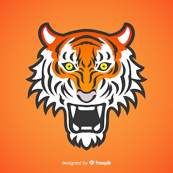 Scary tiger background