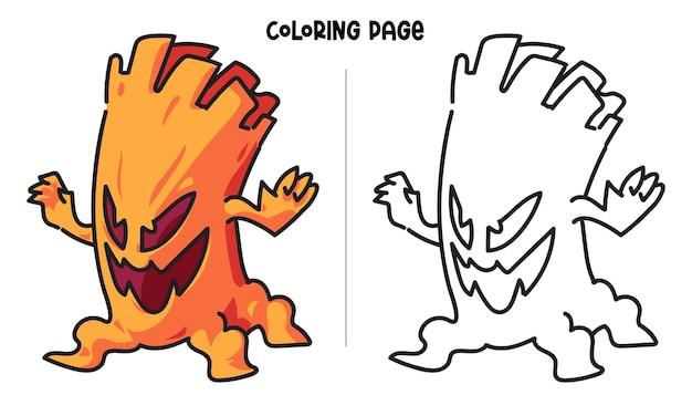 무서운 나무 괴물