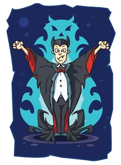 Scary vampire character vector illustration