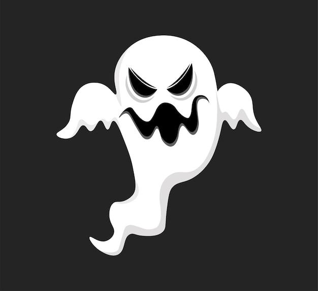 Дизайн иллюстрации страшный белый призрак
