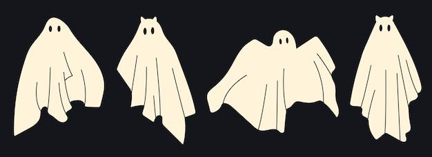 怖い白い幽霊白い空飛ぶ不気味な幽霊怖い幽霊