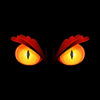 怖い黄色い目のイラスト