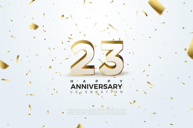 Scattered gold foil illustration for the background of the 23rd anniversary