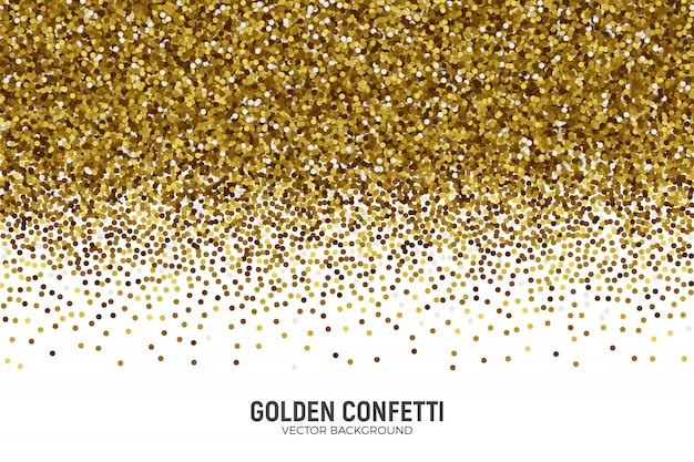 Scattered golden confetti background