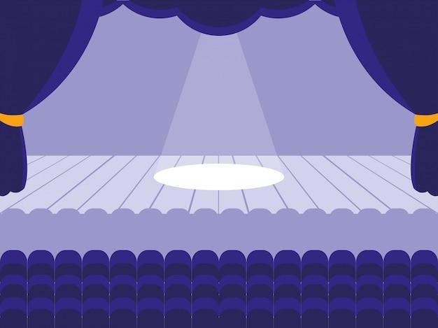 Scenary of theater scene