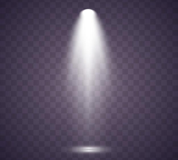 Коллекция освещения сцены. свет эксклюзивный эффект использования объектива вспышки света. освещенная сцена.
