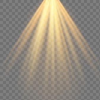 Scene illumination collection, transparent effects