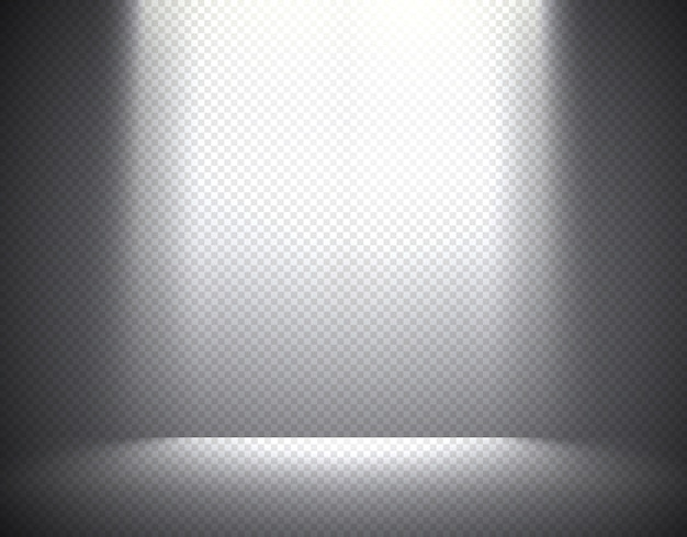 Scene illumination, transparent effects on a plaid dark  background. bright overhead lighting.