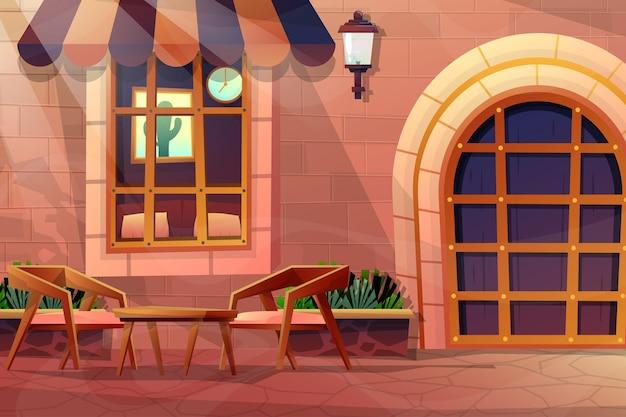 La scena ha guardato attraverso la finestra di vetro e ha visto l'interno della casa.