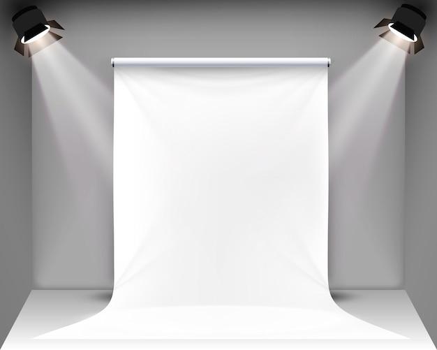 Scene palatno for photo shooting. vector illustration
