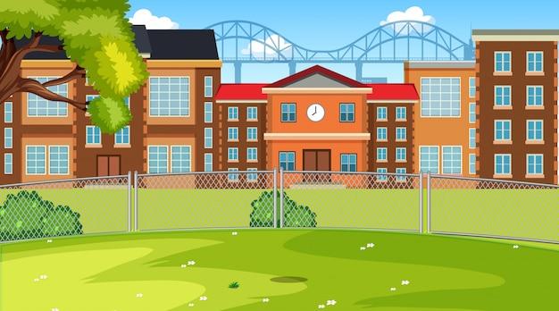 A scene of school