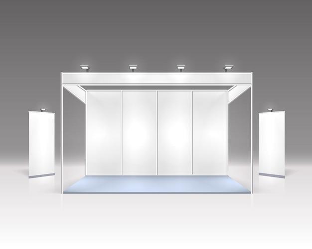 Сцена шоу подиум для презентаций, изолированных на сером.