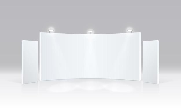 Сюжет шоу-подиума для презентаций на белом фоне. векторная иллюстрация