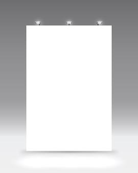 Scene show podium for presentations on the grey background. vector illustration