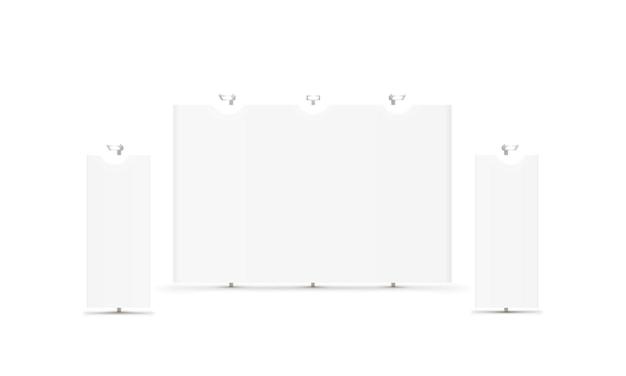 Scene show podium for presentations on the white background. vector illustration