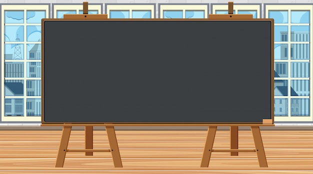 Scene with blackboard in the room