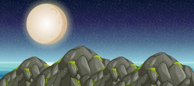 풀 문과 산이있는 장면
