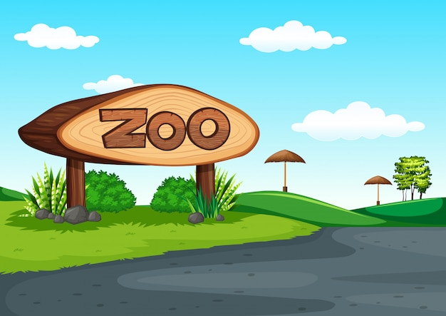 Scene of zoo without animal