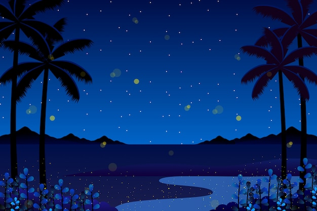 Scenery colorful blue sky night background