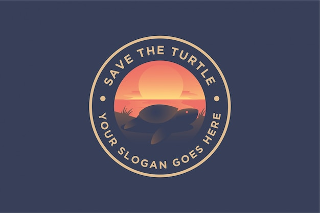 Scenery logo of turtle