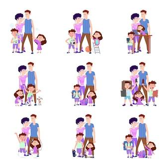 人生の幸せな家族からのシーン
