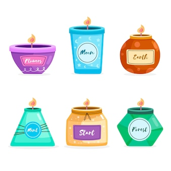 Scented candle collection
