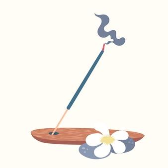 Деревянная подставка для ароматических палочек