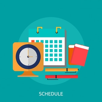 Schedule background design