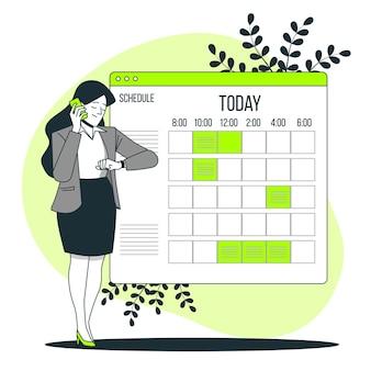 Schedule concept illustration