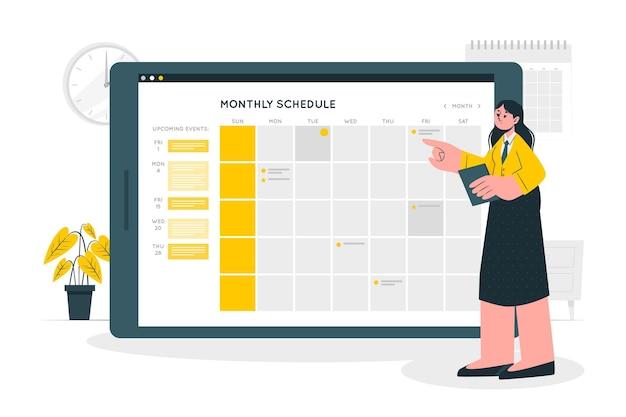 Scheduleconcept illustration
