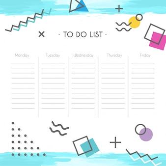 Schedule school template