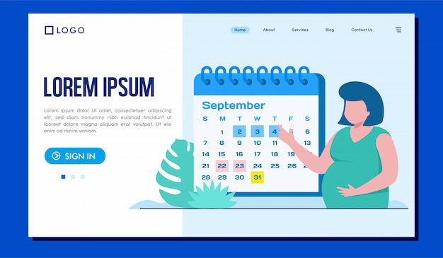 Schedule your visit landing page illustration  template