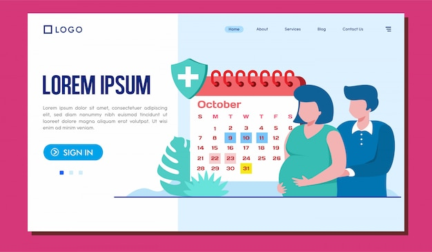 Schedule your visit landing page website illustration