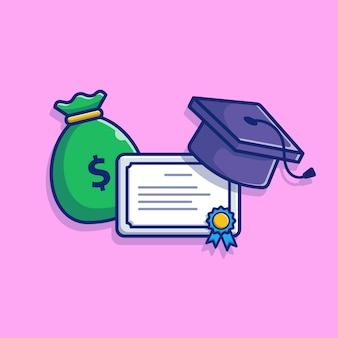 Premium Vector   A set of scholarship illustration.