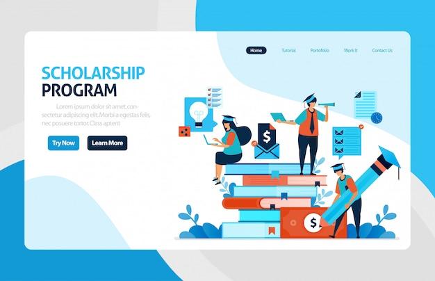 Scholarship program landing page