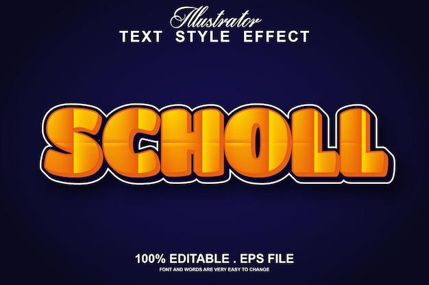 Scholl text effect editable
