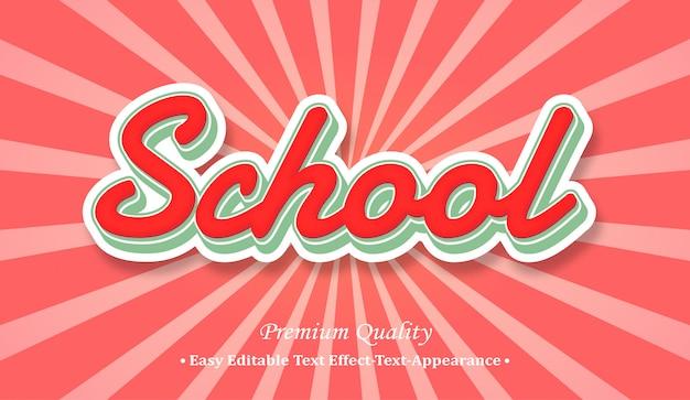 School 3d font style effect