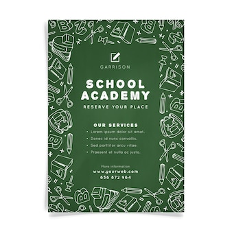 School academy a5 flyer template