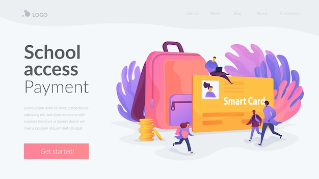 School access payment landing page template