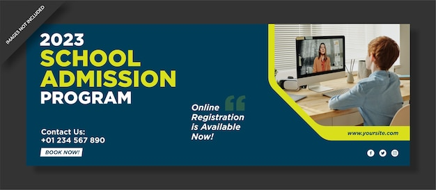 School admission facebook cover design