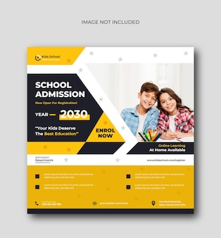 School admission going and get admission promotion social media post template