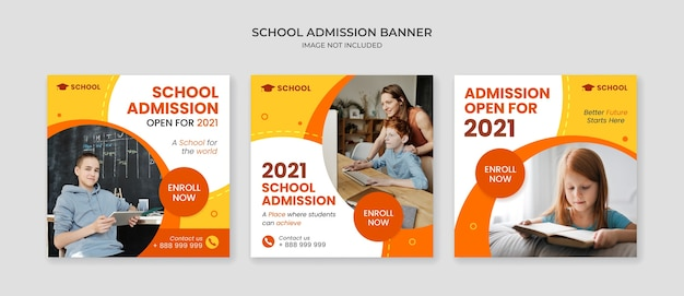학교 입학 소셜 미디어 게시물 템플릿