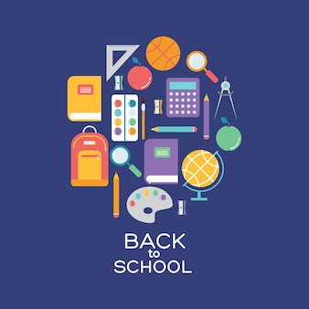 School and education background illustration