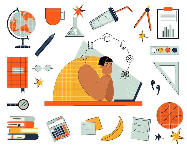 Школьные и образовательные предметы для онлайн-обучения