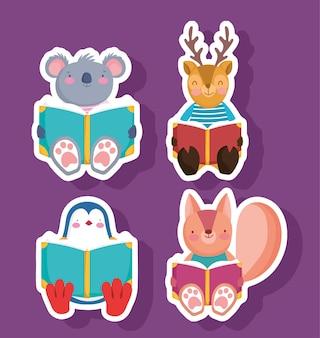 School animals sticker